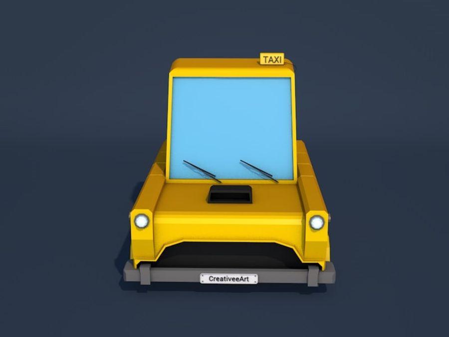 低ポリタクシー車 royalty-free 3d model - Preview no. 8