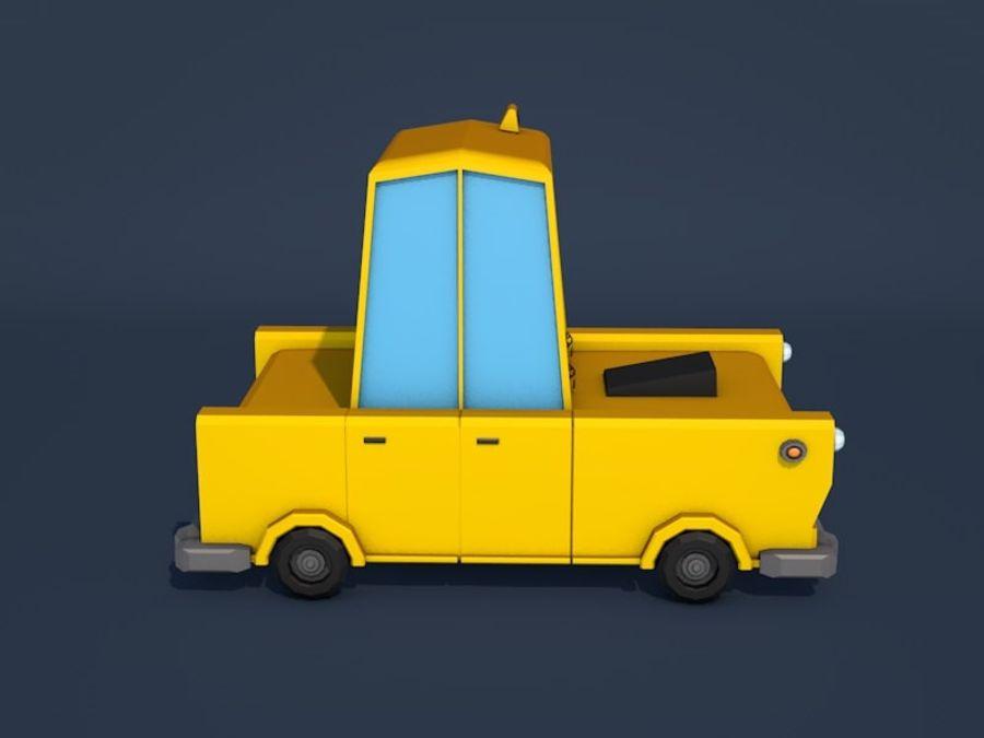 低ポリタクシー車 royalty-free 3d model - Preview no. 6