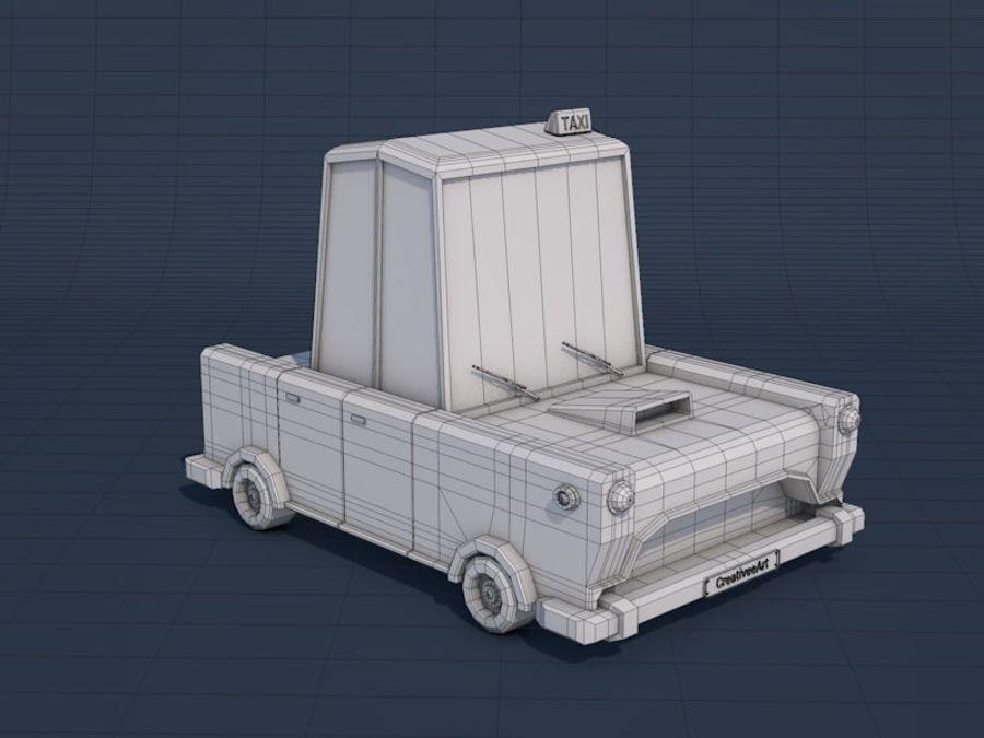 低ポリタクシー車 royalty-free 3d model - Preview no. 15