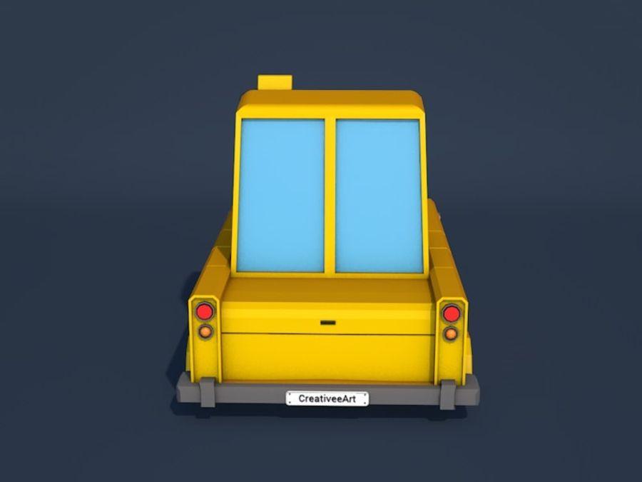 低ポリタクシー車 royalty-free 3d model - Preview no. 4