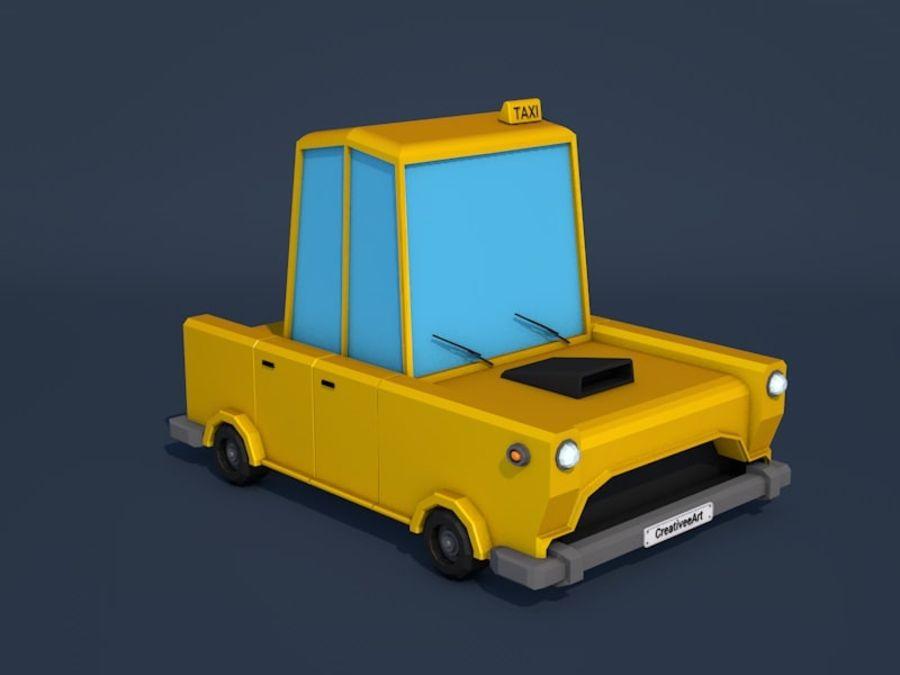 低ポリタクシー車 royalty-free 3d model - Preview no. 7
