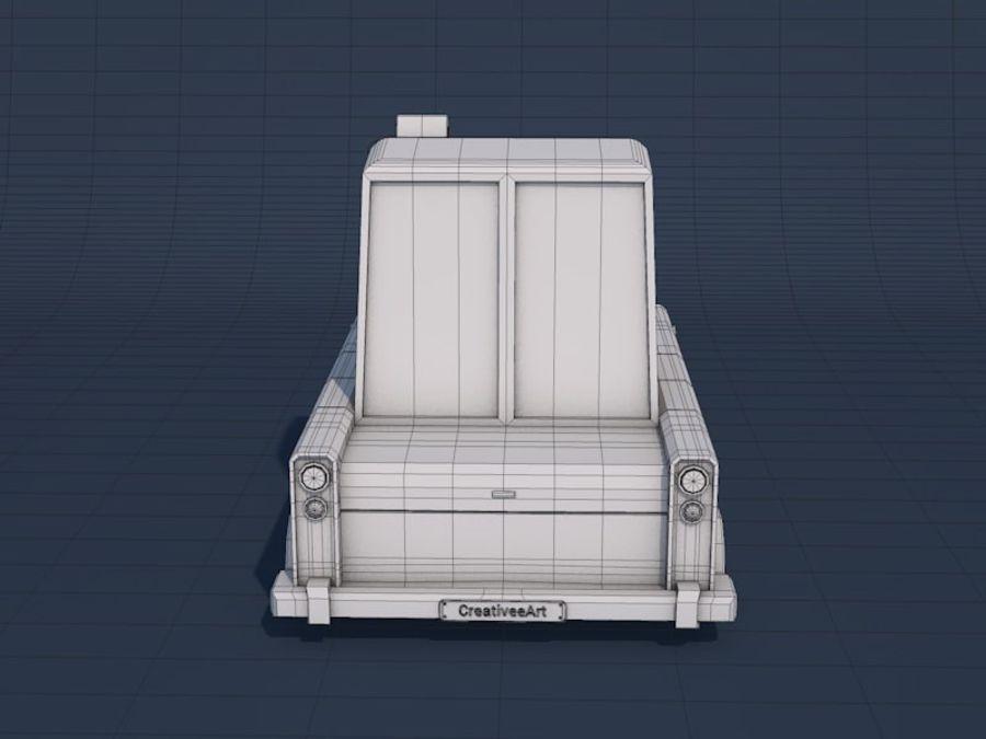 低ポリタクシー車 royalty-free 3d model - Preview no. 12