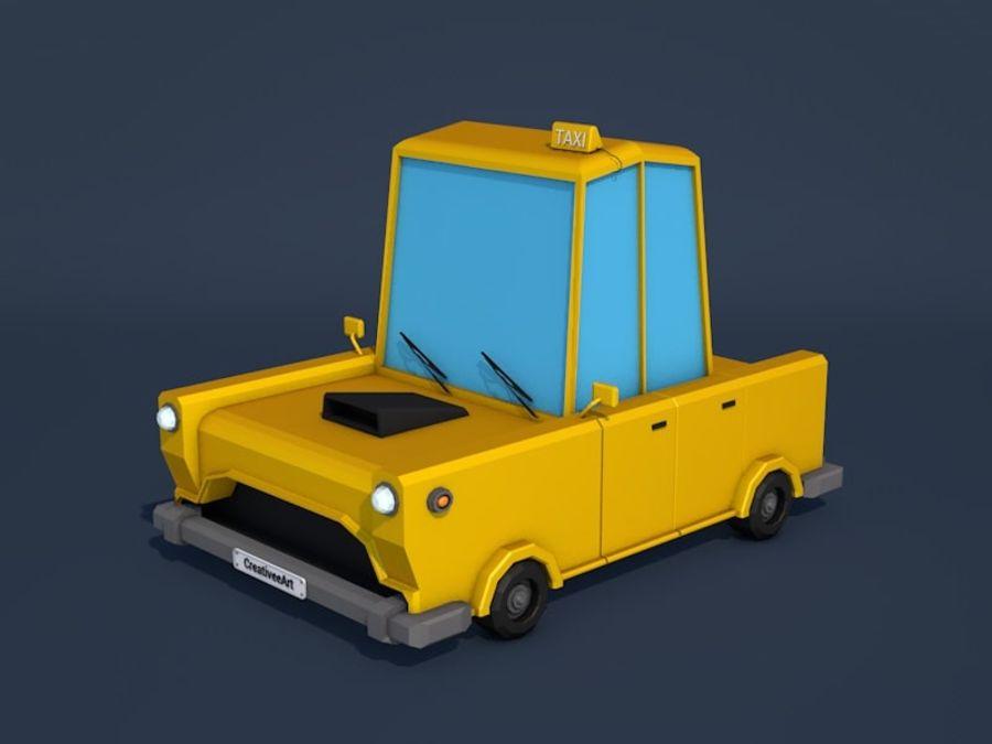 低ポリタクシー車 royalty-free 3d model - Preview no. 1