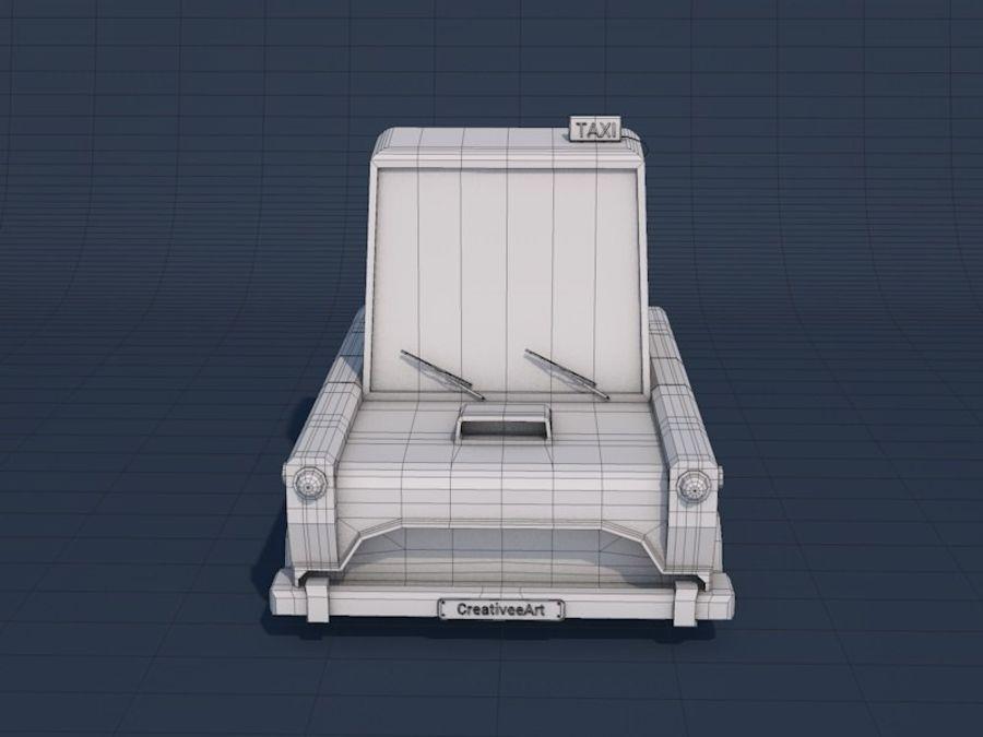 低ポリタクシー車 royalty-free 3d model - Preview no. 16