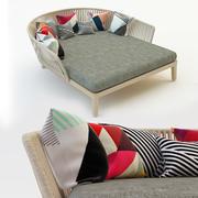 trädgårds soffa 3d model