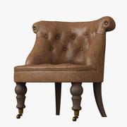 Restoration Hardware /Sophie Tufted Leather Slipper Chair 3d model