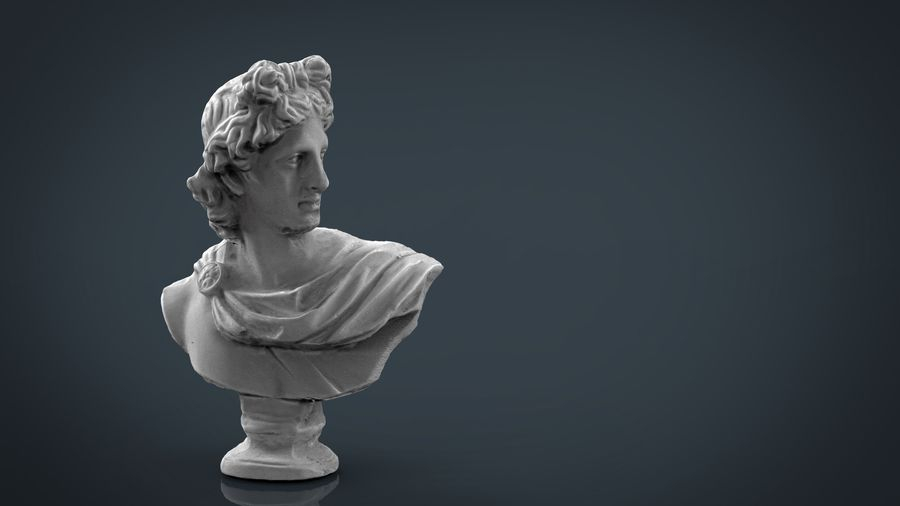 ROMAN BUST 4 royalty-free 3d model - Preview no. 5