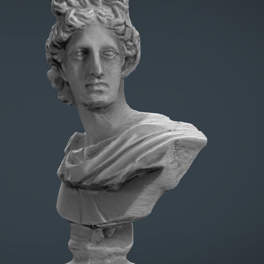 ROMAN BUST 4 royalty-free 3d model - Preview no. 2