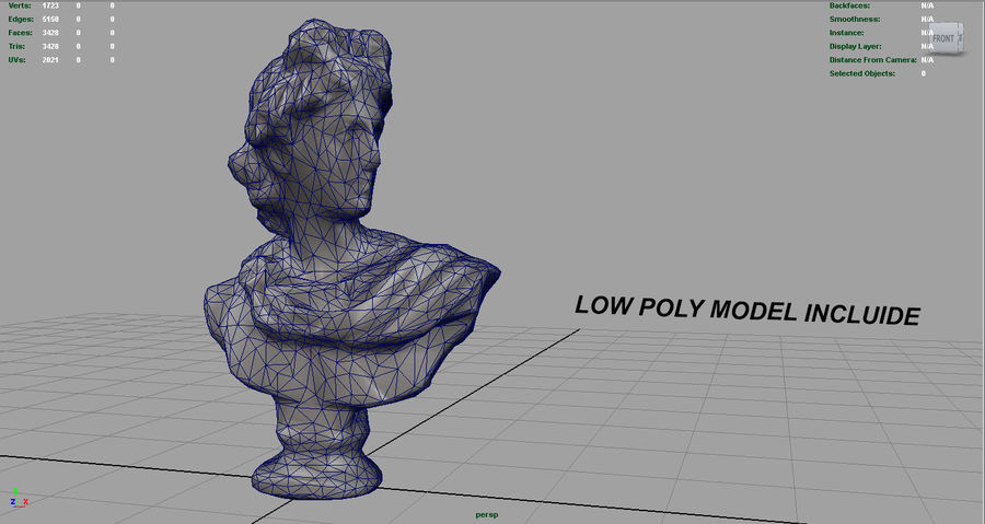 ROMAN BUST 4 royalty-free 3d model - Preview no. 11