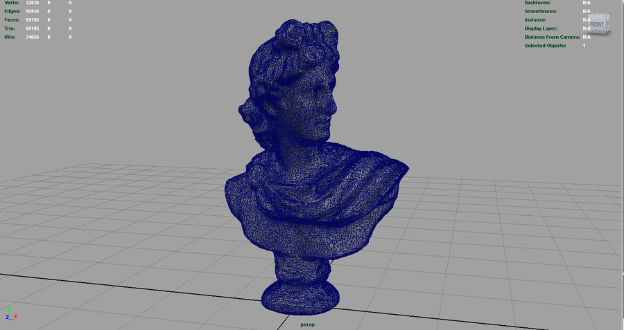 ROMAN BUST 4 royalty-free 3d model - Preview no. 9