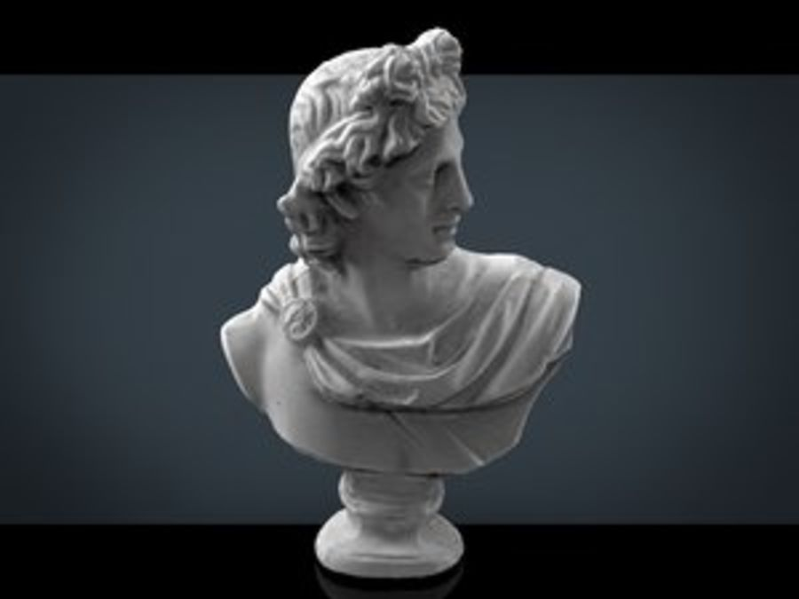 ROMAN BUST 4 royalty-free 3d model - Preview no. 1
