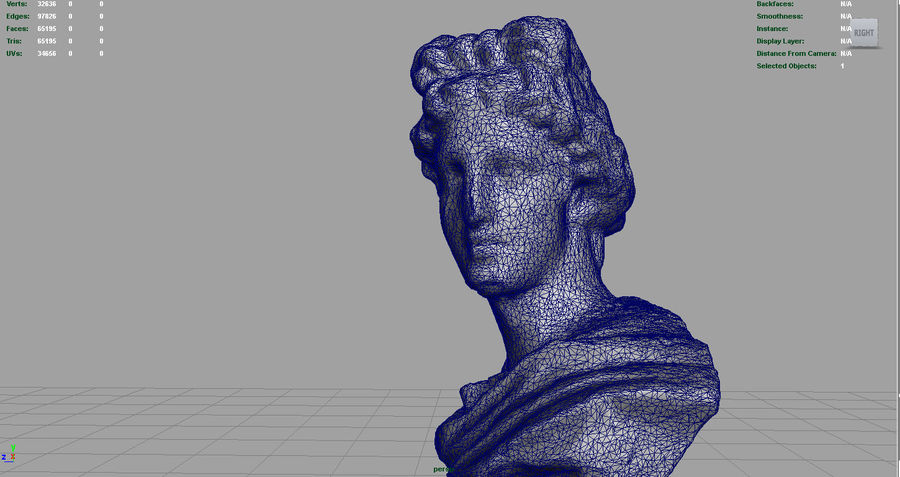 ROMAN BUST 4 royalty-free 3d model - Preview no. 10