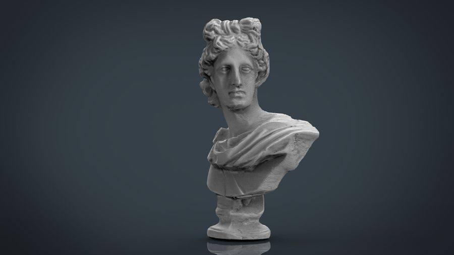 ROMAN BUST 4 royalty-free 3d model - Preview no. 4