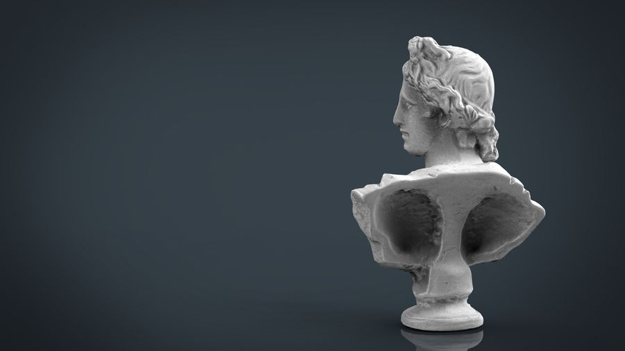 ROMAN BUST 4 royalty-free 3d model - Preview no. 3