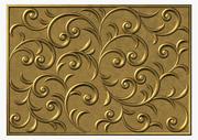 Vintage floral swirl pattern square 3d model