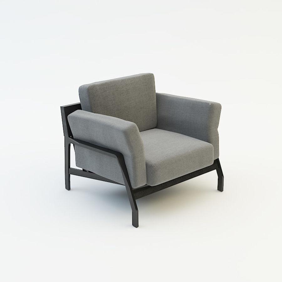 коллекция мебели (2) royalty-free 3d model - Preview no. 5