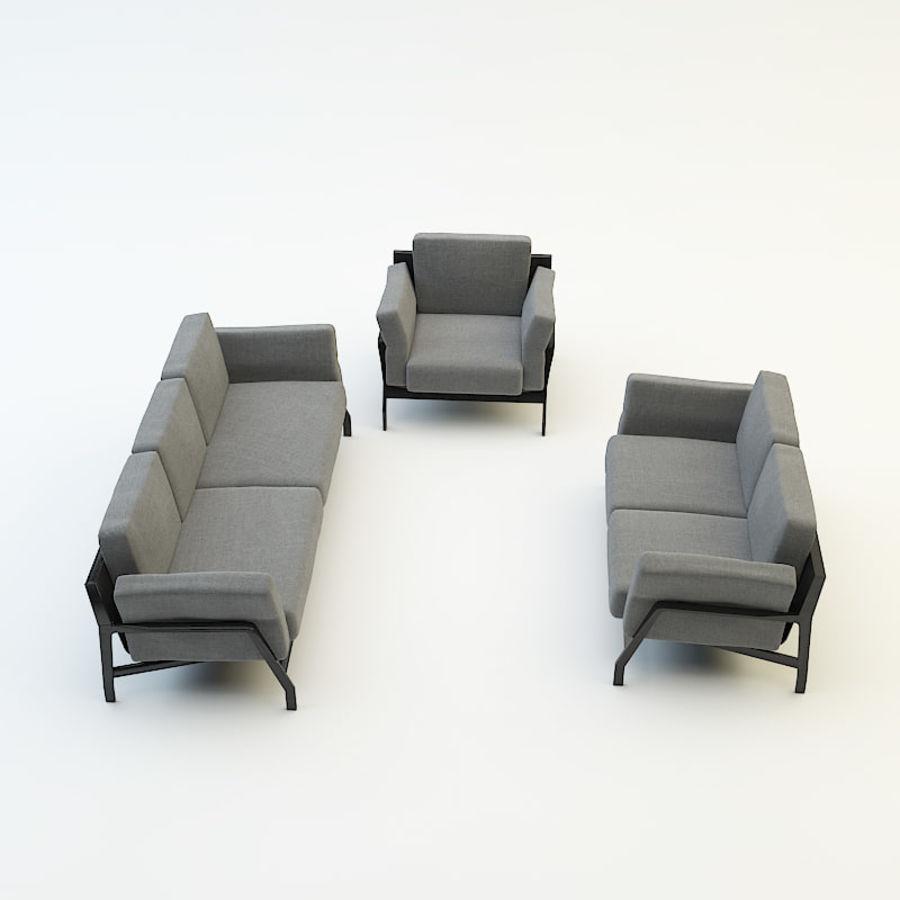 коллекция мебели (2) royalty-free 3d model - Preview no. 3