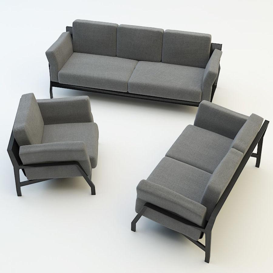 коллекция мебели (2) royalty-free 3d model - Preview no. 1