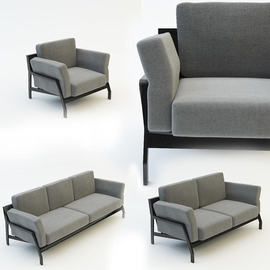 коллекция мебели (2) royalty-free 3d model - Preview no. 2