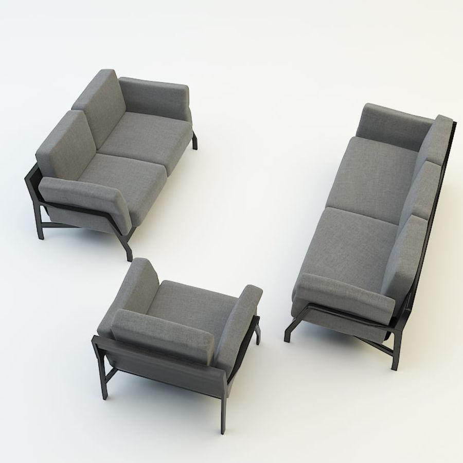 коллекция мебели (2) royalty-free 3d model - Preview no. 4