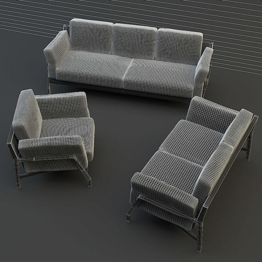 коллекция мебели (2) royalty-free 3d model - Preview no. 9