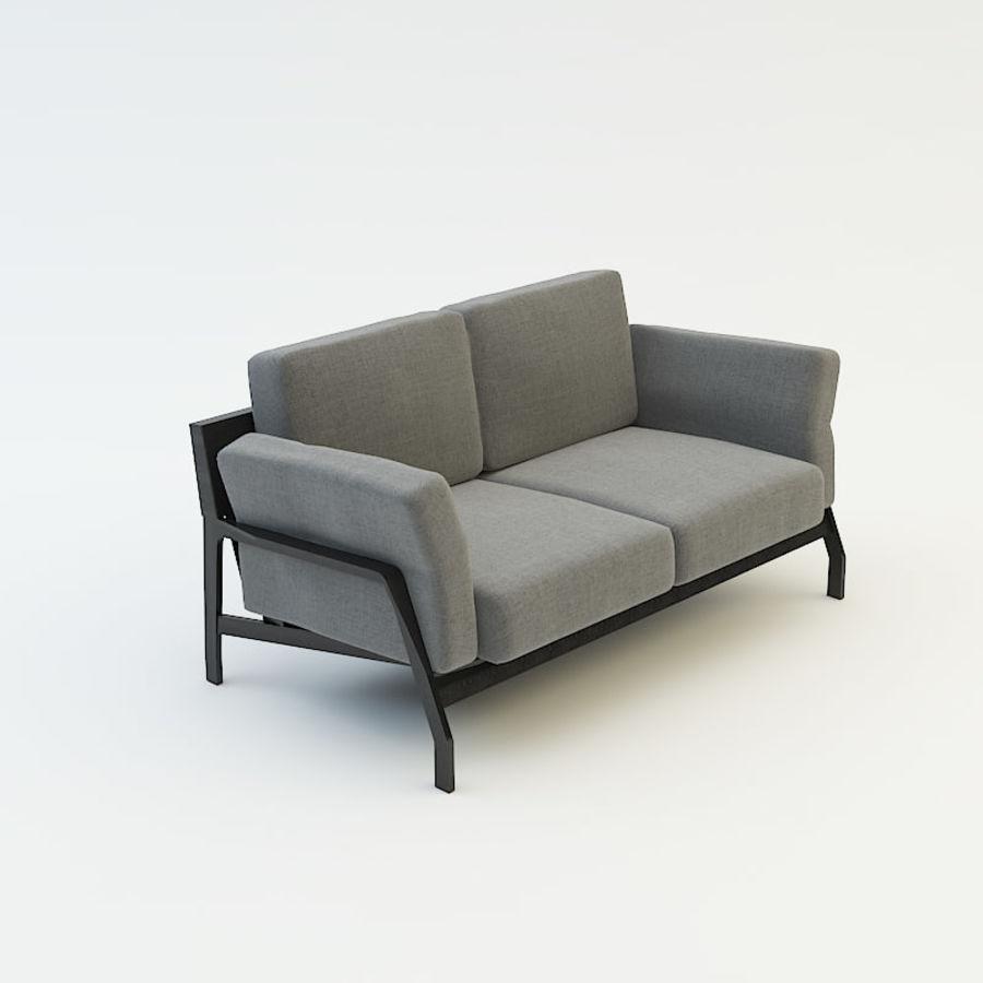 коллекция мебели (2) royalty-free 3d model - Preview no. 6