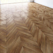 实木复合地板人字形经典地板 3d model