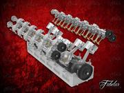 V12 engine open 3d model
