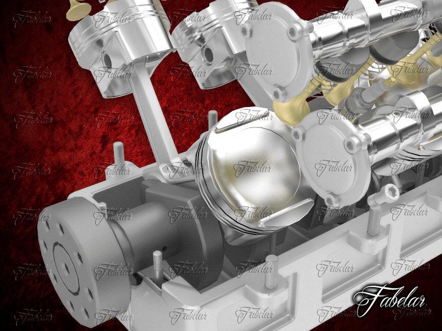 Silnik V12 otwarty royalty-free 3d model - Preview no. 4
