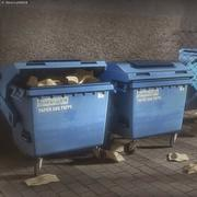 Garbage container with ragdoll setup 3d model