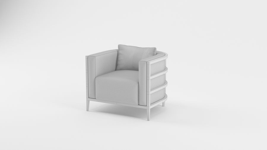 Armchair1 royalty-free 3d model - Preview no. 4