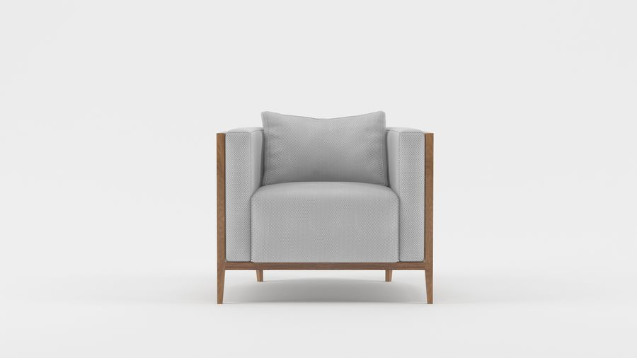 Armchair1 royalty-free 3d model - Preview no. 1
