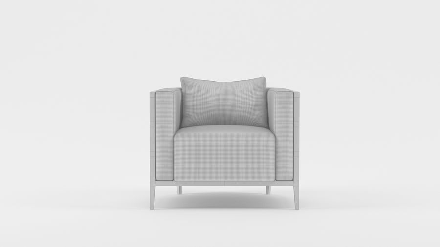 Armchair1 royalty-free 3d model - Preview no. 2