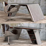 Chair and Writing Table Aviator 3d model