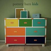 PotteryBarn, Gemma Campaign Extra Wide Dresser 3d model