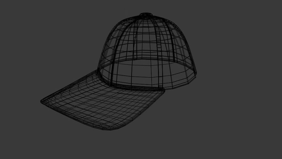 Boné de baseball royalty-free 3d model - Preview no. 6
