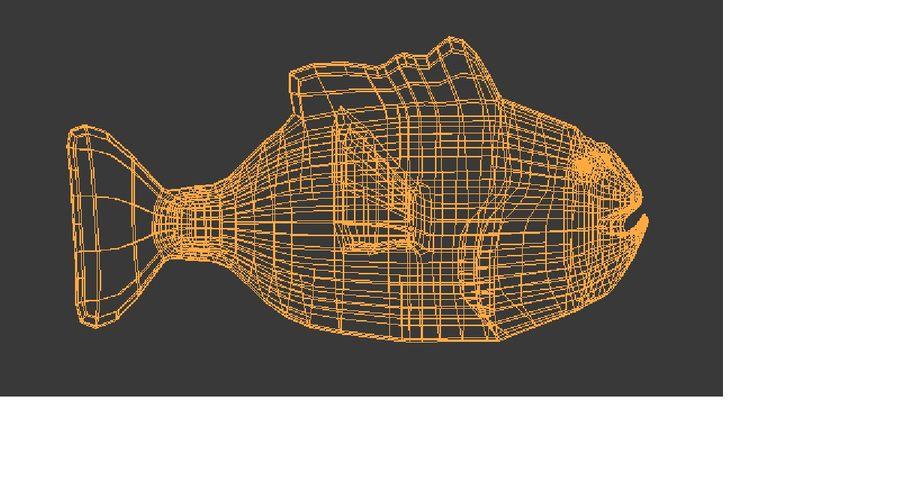 pesce esotico del fumetto royalty-free 3d model - Preview no. 5