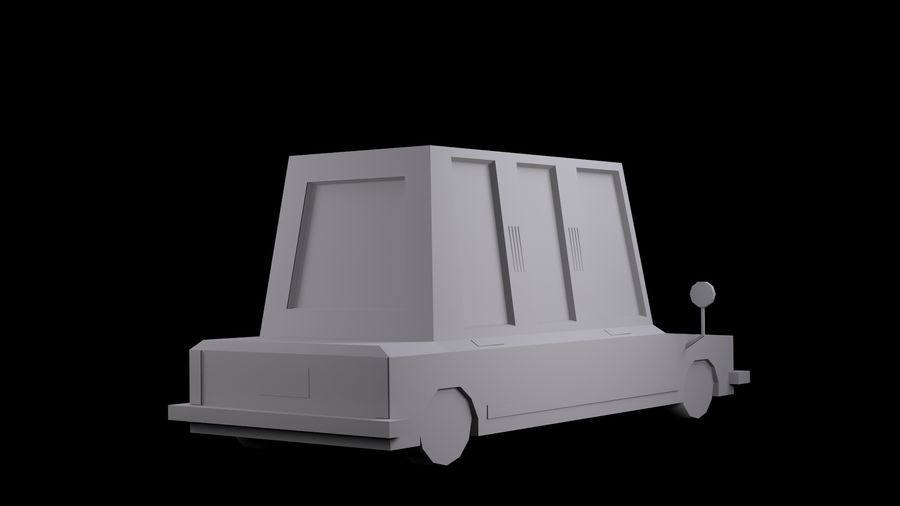 Limousine - (Voitures Low Poly Cartoon) royalty-free 3d model - Preview no. 5