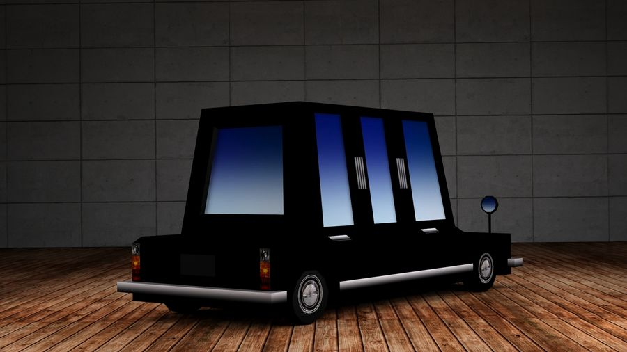 Limousine - (Voitures Low Poly Cartoon) royalty-free 3d model - Preview no. 3