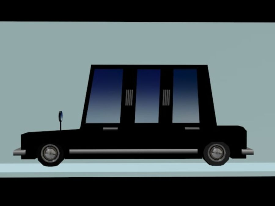 Limousine - (Voitures Low Poly Cartoon) royalty-free 3d model - Preview no. 2