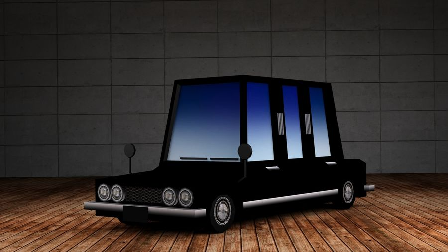 Limousine - (Voitures Low Poly Cartoon) royalty-free 3d model - Preview no. 1