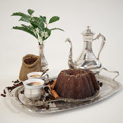 kaffe med kaka 3d model