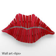 Kunst aan de muur Lips 3d model