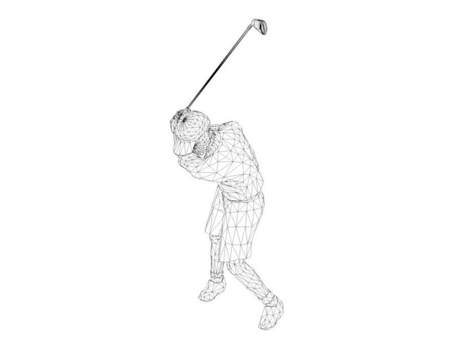 基本的なゴルファー royalty-free 3d model - Preview no. 7