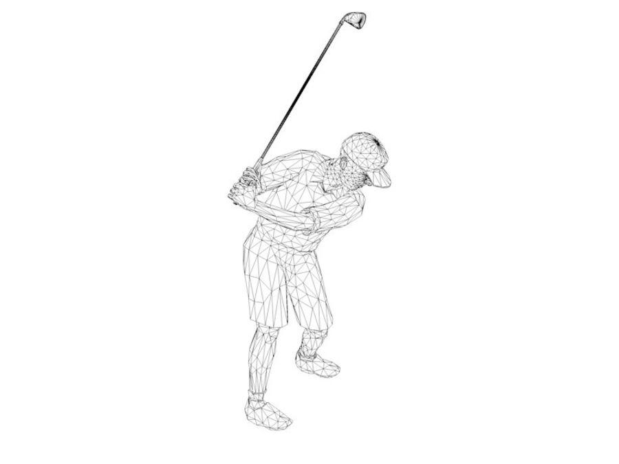 基本的なゴルファー royalty-free 3d model - Preview no. 6