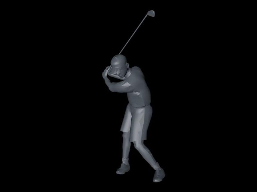 基本的なゴルファー royalty-free 3d model - Preview no. 1