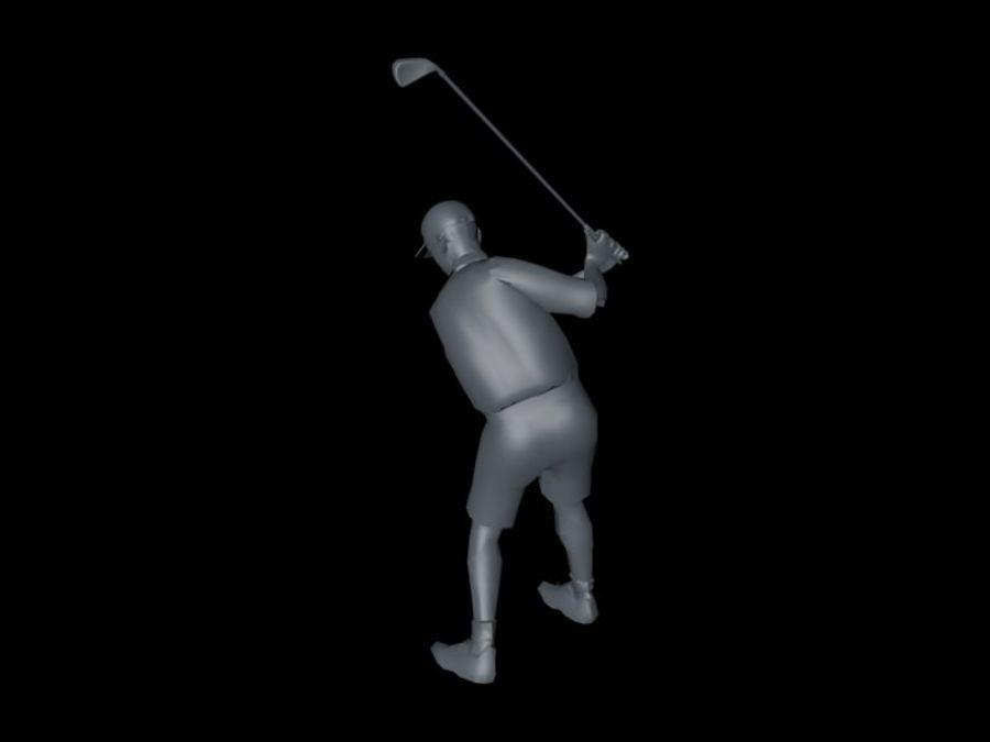 基本的なゴルファー royalty-free 3d model - Preview no. 3