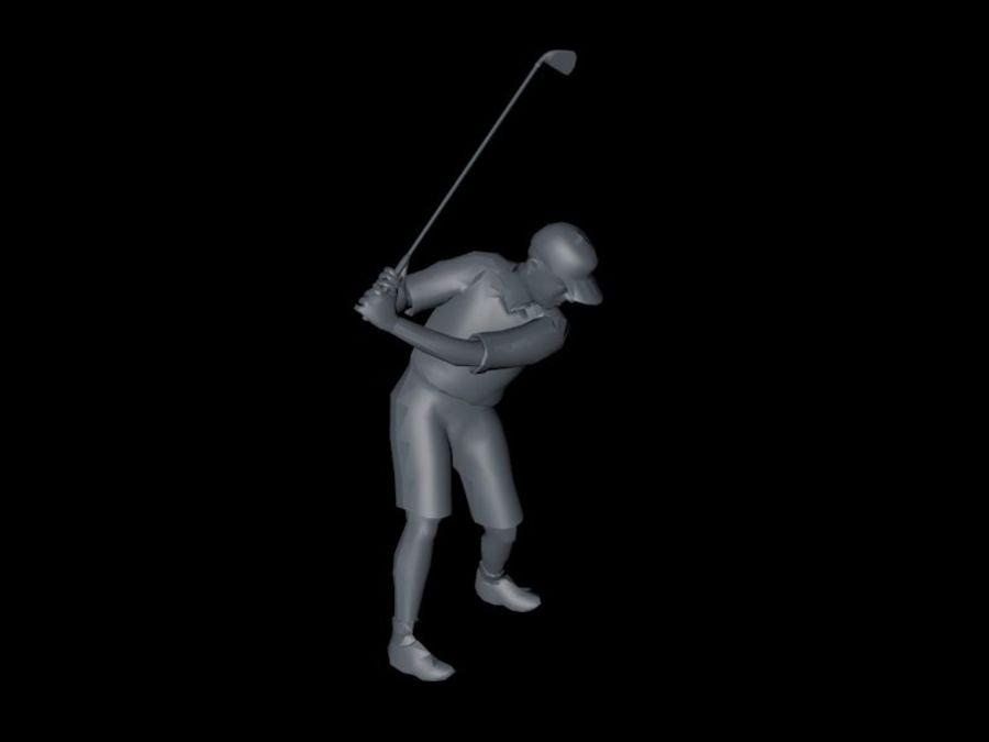 基本的なゴルファー royalty-free 3d model - Preview no. 4