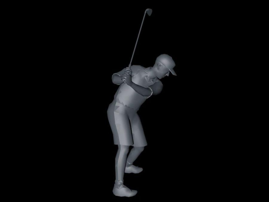 基本的なゴルファー royalty-free 3d model - Preview no. 2