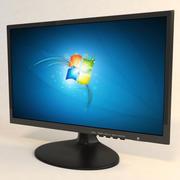 monitor de computadora modelo 3d